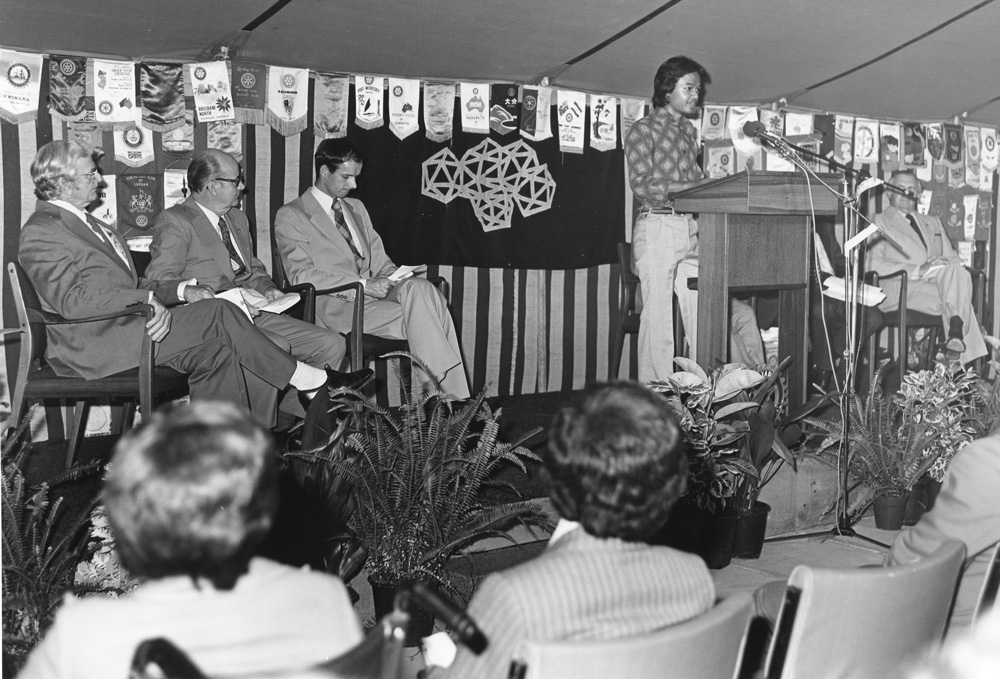 Opening of Rotary International House April 1978