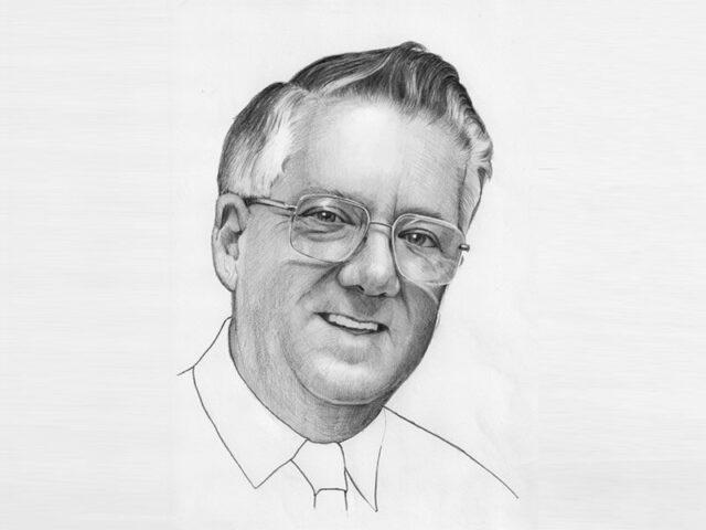 Sketch of Ron Hartley